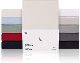 Blumtal Drap Housse 180/200 x 200/220 x 40 cm - 100% Coton Premium, Hypoallergénique, Anti Pli - Beige (x 1)