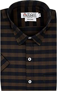 Arihant Men's Checkered 100% Cotton Half Sleeve Regular Fit Formal Shirt