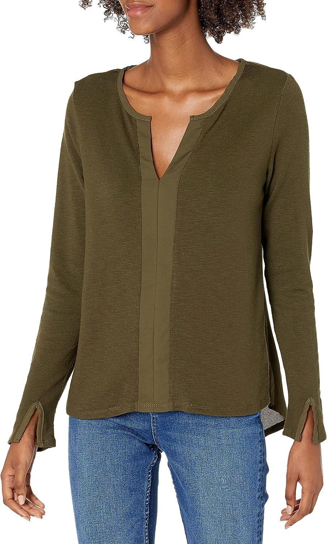 reCreation 入荷予定 Women's Long Sleeve 超歓迎された Top Knit Split Neck