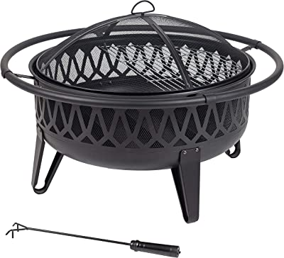 Pleasant Hearth OFW750R fire Pit, Black