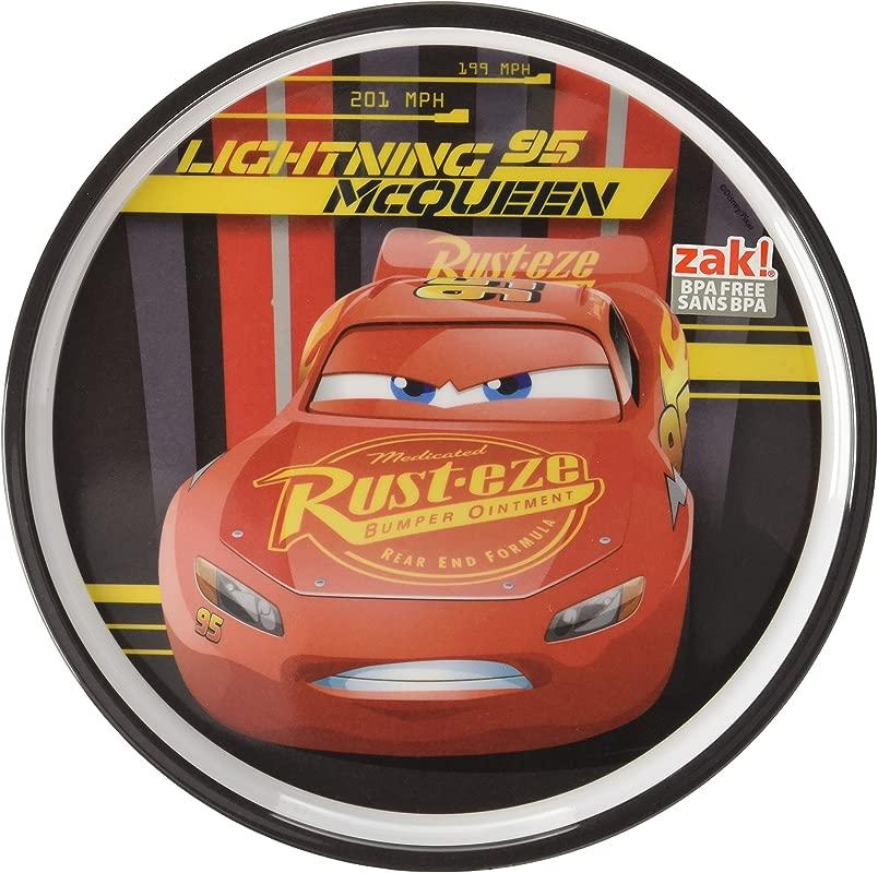 Zak Designs CRSG 0353 Cars 3 8in Melamine Rimmed Plate Multicolor