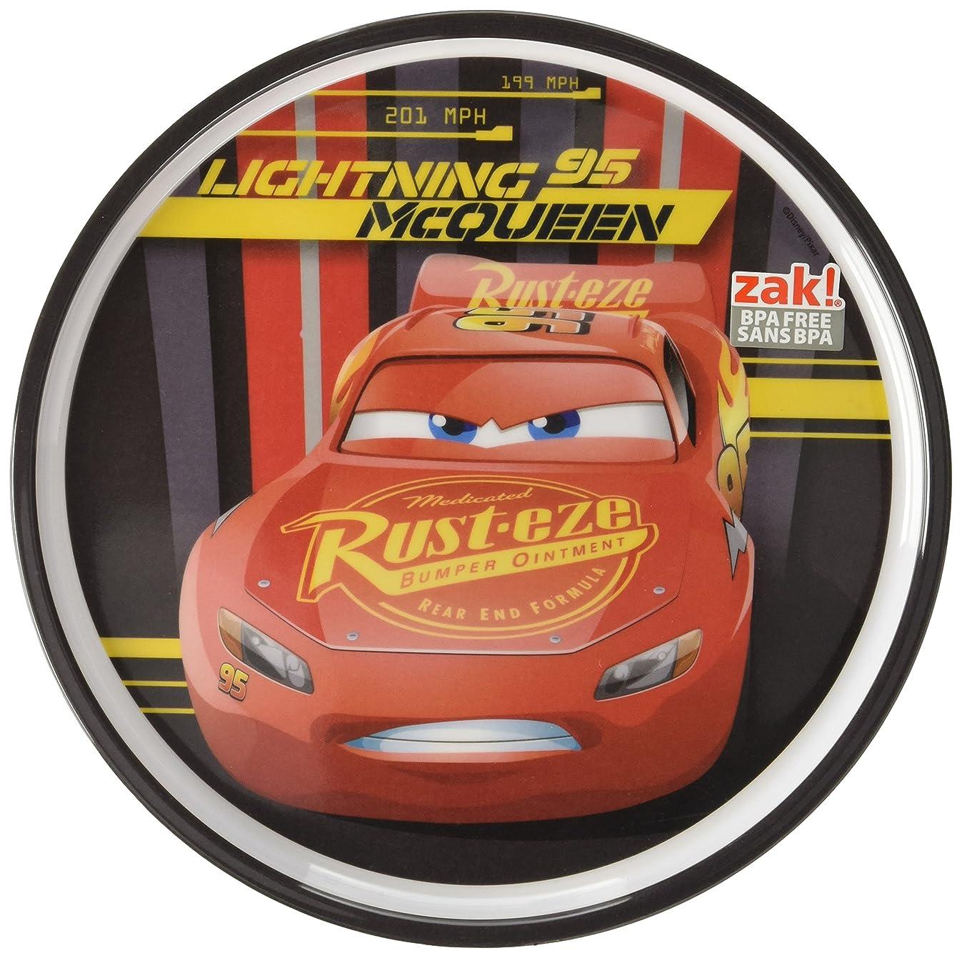 Zak Designs CRSG-0353 Cars 3 8in Melamine Rimmed Plate, Multicolor