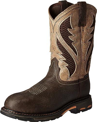 Ariat - Chaussures de Travail Travail Travail Workhog Venttek Comp Toe Western Hommes, 46 W EU, Bruin marron Stone 897