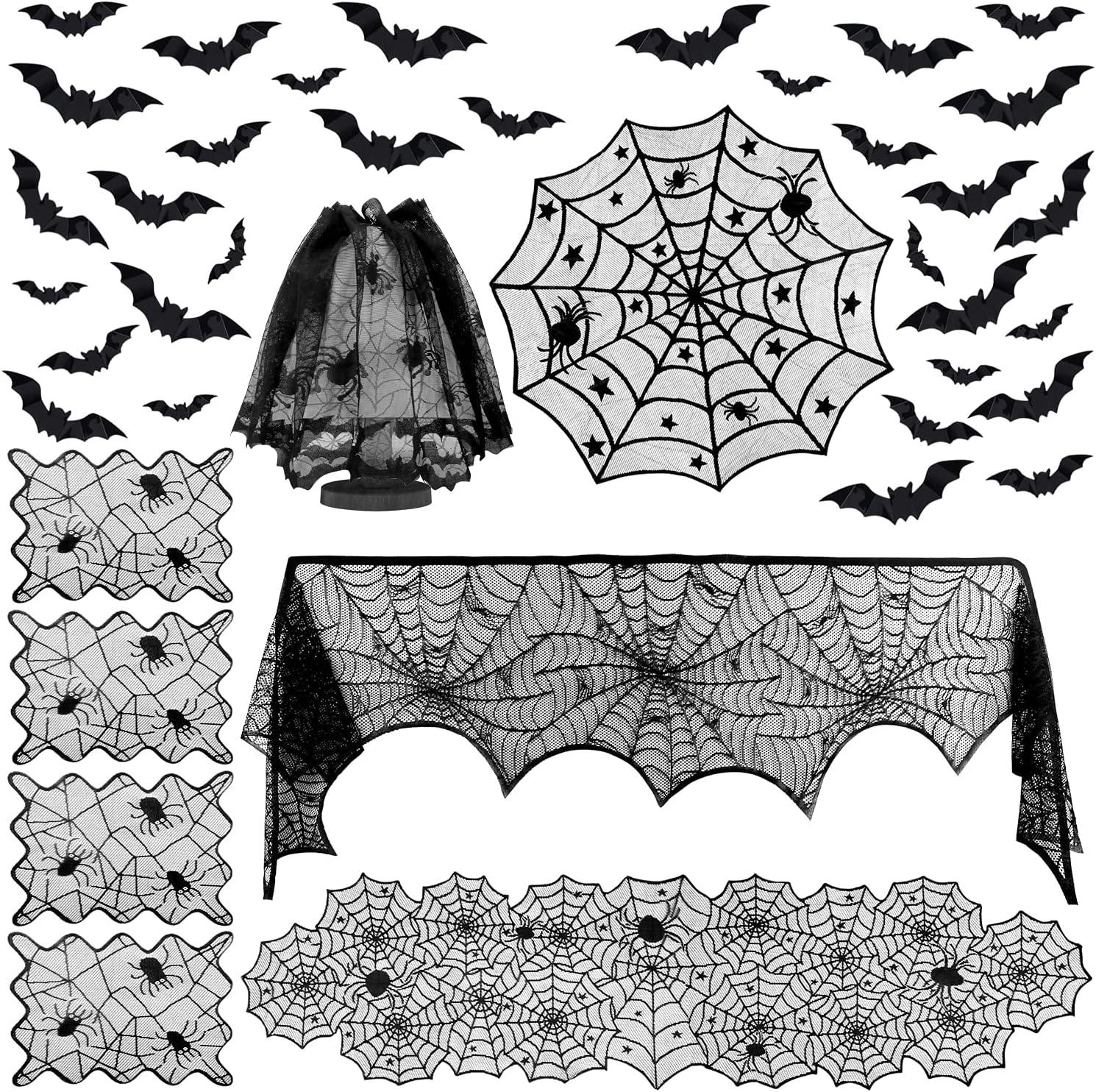 Colovis Halloween Decorations Set Include Lace Fireplace Mantel