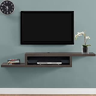 Martin Furniture Asymmetrical Floating Wall Mounted TV Console, 60inch, Skyline Walnut