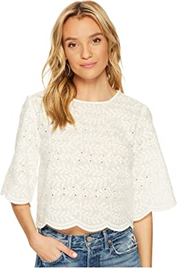 Bishop + Young - Crochet Scallop Edge Top