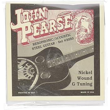 John Pearse JP3050 Pure Nickel Acoustic Guitar Strings, Medium