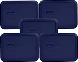 Pyrex 7210-PC Rectangle Dark Blue 3 Cup Storage Lid for Glass Dish (5, Dark Blue)