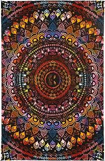 Sunshine Joy 3D Rainbow Cat Tapestry Tie Dye Kitty Mandala Wall Hanging Huge 60x90 Inches