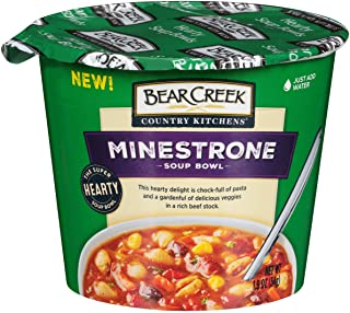 Bear Creek Hearty Soup Bowl, Minestrone, 1.9 Ounce (Pack of 6)