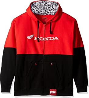 Factory Effex 15-88364 Honda Double Hooded Zip-up Sweatshirt (Black