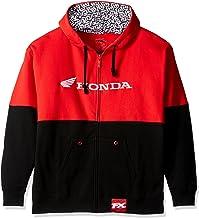 Factory Effex 15-88364 'Honda' Double Hooded Zip-up Sweatshirt (Black/Red, X-Large)