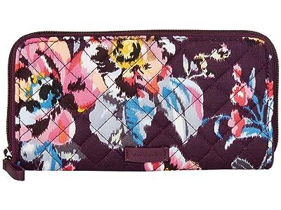 Vera Bradley Iconic RFID Georgia Wallet (Indiana Rose) Wallet Handbags