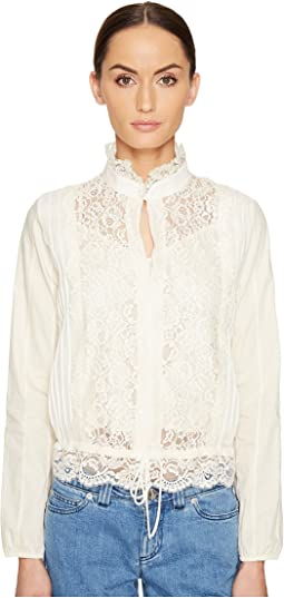 Lace Front Blouse