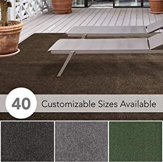 iCustomRug Affordable Indoor/Outdoor Carpet with Marine Backing, Many Carpet Flooring for Patio, Porch, Deck, Boat, Basement or Garage 12` X 9` in Brown