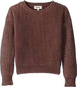Pull-On Shaker Stitch Sweater (Big Kids)