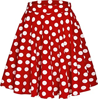 ba6330333 Amazon's Choice for minnie mouse skirt · Urban CoCo Women's Basic Versatile  Stretchy Flared Casual Mini Skater Skirt