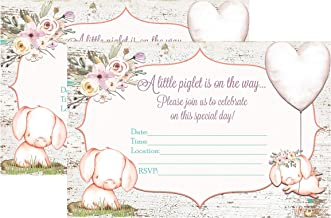 Silly Goose Gifts A Little Piglet is On The Way Pig Themed Baby Shower Invite Decor Supply Supplies