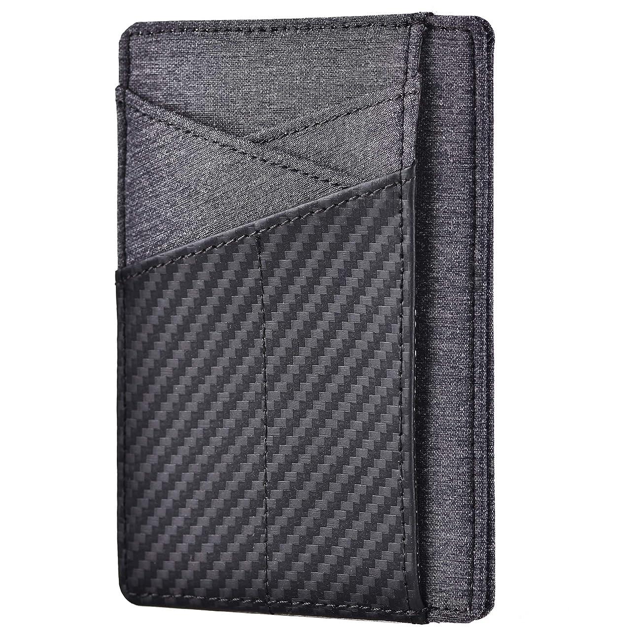 むしろ中で騒Kinzd カードケース 身分証明書入れ RFIDスキミング防止 薄型 免許証入れ 小さい財布 本革レザー