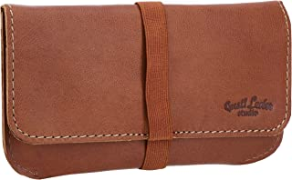 "Porta tabacco Gusti Leder studio""Farro"" borsa in vera pelle marrone chiaro 2T30-22-5"
