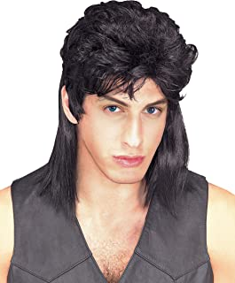 Rubie's Costume Humor Black Mullet Shoulder Length Wig