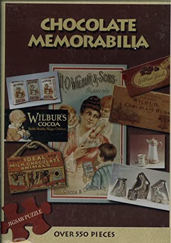Chocolate Memorabilia 550 Piece Puzzle Featuring A Photograph Taken From The Book of Chocolate Memorabilia By damen Baker Showing Various Wilbur Chocolate Products