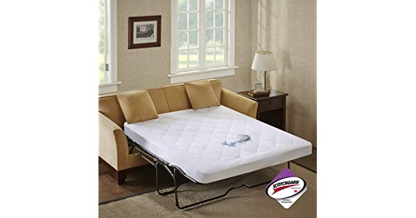 Sleep Philosophy Holden Waterproof Sofa Bed Mattress Protection Pad with 3M Scotchgard Moisture Management White Full BASI16-0288