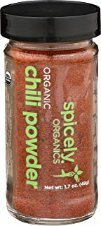 Spicely Organic Chili Powder 1.70 Ounce Jar Certified Gluten Free
