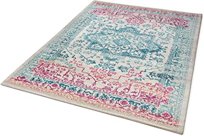 """Well Woven Firenze Monte Modern Vintage Medallion Distressed Multi Area Rug 7'10"""" x 9'10"""", Multicolor"""