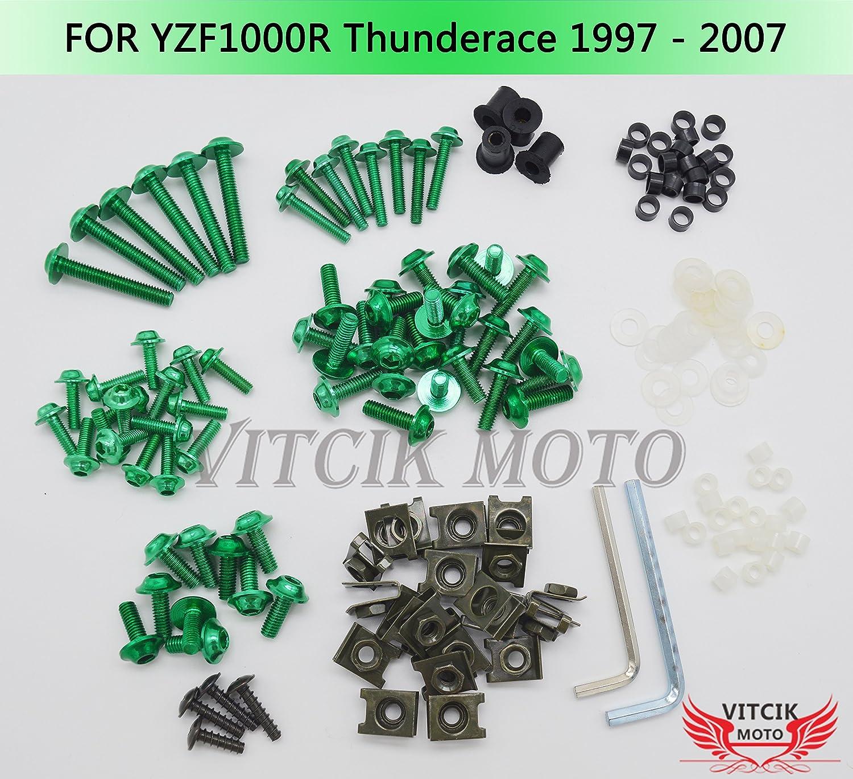 VITCIK Full Fairings Bolt 気質アップ Screw Kits for 定番スタイル 9 2007 YZF - 1000R 1997