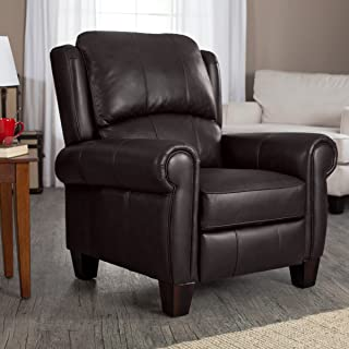 Brown Leather Recliner-Living Room Furniture-Barcalounger Office Chair Recliners Charleston Wingback-Buy Today