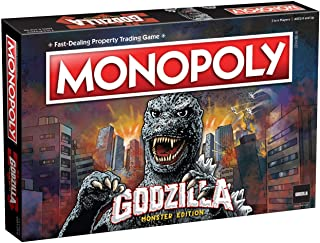 Monopoly Godzilla | Based on Classic Monster Movie Franchise Godzilla | Collectible Monopoly Game Featuring Familiar Locat...