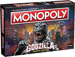 Monopoly Godzilla   Based on Classic Monster Movie Franchise Godzilla   Collectible Monopoly Game Featuring Familiar Locations and Iconic Kaiju Monsters