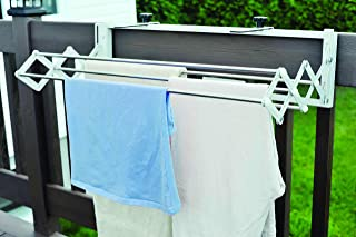 The Original Smartdryer Indoor/Outdoor Retractable Clothes Drying Rack - Ideal for Your RV, Balcony, Pool Side or Laundry Room - Compact Version - 31 Inch
