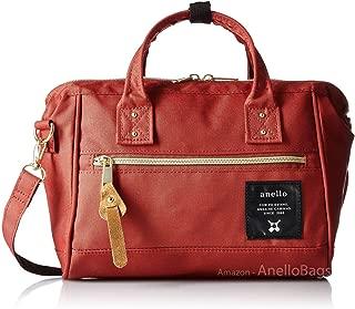 Japan Anello MINI SMALL DARK ORANGE 2 Way Unisex Shoulder Bag Poly Canvas Waterproof
