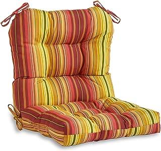 Greendale Home Fashions Outdoor Seat/Back Chair Cushion, Kinnabari