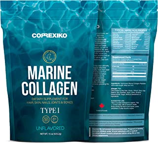 Premium Marine Collagen Peptides  from Wild Caught Fish Skin , hydrolyzed Protein Powder for Joints & Bones, Skin, Hair, Nails & Digestive Health - Made in Canada