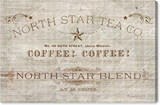 The Oliver Gal Artist Co. Advertising Wall Art Canvas Prints 'North Star Coffee' Home Décor, 60