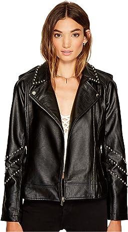 BB Dakota - Jerilyn Studded Faux Leather Jacket