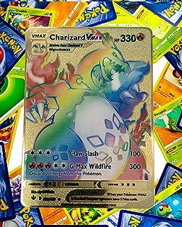 Champions Path Rainbow Charizard VMAX Custom Gold Metal Pokemon Card Champions Path 074/073
