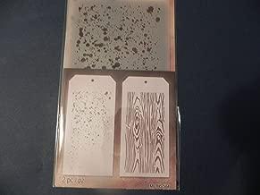 Tim Holtz Layering Stencils Duo Pack ~ Speckles & Woodgrain!!!