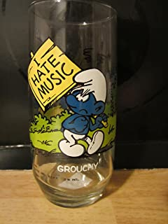 Vintage 1982-1983 Grouchy Smurf Glass