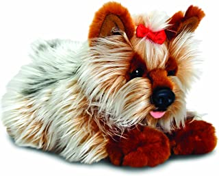 Keel Toys 35 Cm Stuffed Yorkie Toy - White and Brown