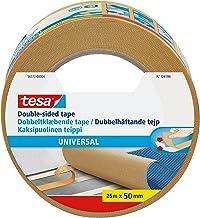 tesa UK 56172-00004-11 Sterke dubbelzijdige plakband voor het bevestigen van tapijten, 25 m x 50 mm