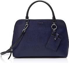 Calvin Klein Susan Saffiano Leather Dome Satchel with Card Case Hanger