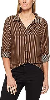 French Connection Women's Stripe CORE Shirt, Tan/Black