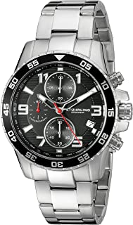 Stuhrling Original Men's 985.02 Concorso Quartz Chronograph Date Stainless Steel Watch