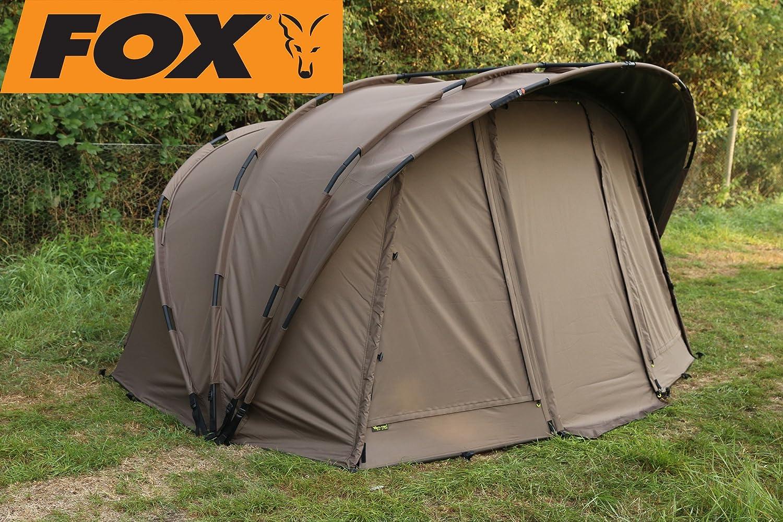 Fox Retreat+ Ripstop 1-man Angelzelt + Innenzelt zum Karpfenangeln, Karpfenzelt, Anglerzelt, 1-Mann-Zelt, Zelt für 1 Person zum Nachtangeln