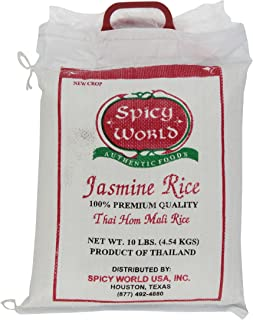 Spicy World Pure Jasmine Rice From Thailand, 10-Pound Bags (Pack of 1)