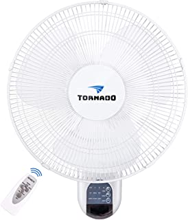 Tornado 16 Inch Digital Wall Mount Fan – Remote Control Included – 3 Speed..